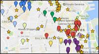 Mapa de Hostels em Buenos Aires