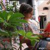 Patio con parrilla en Magandhi Hostel Belgrano, Buenos Aires
