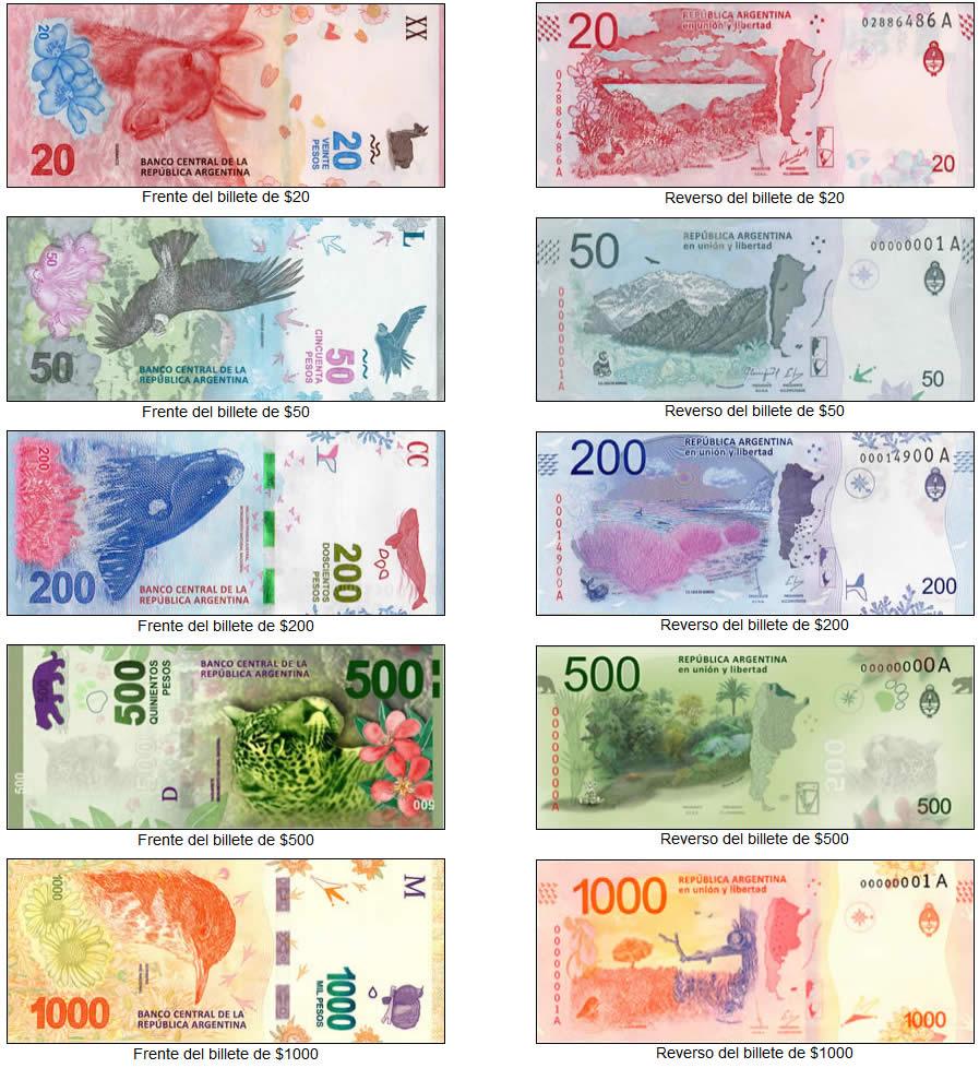 monedas y billetes de Argentina: Serie Fauna Autóctona