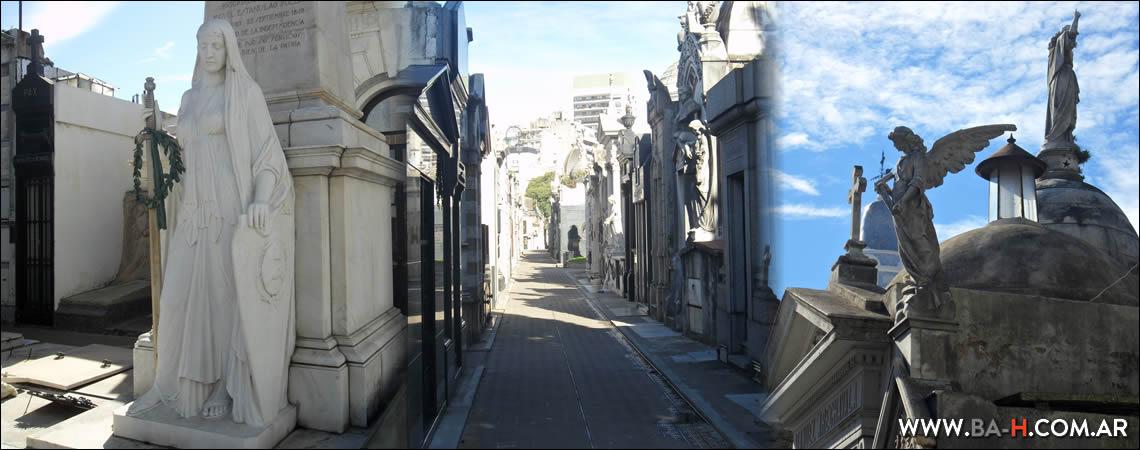 Bóvedas y pasillos del Cementerio de La Recoleta