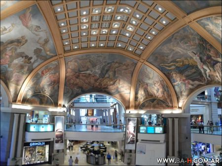 Galerías Pacífico, Murales, Cúpula, Pintura