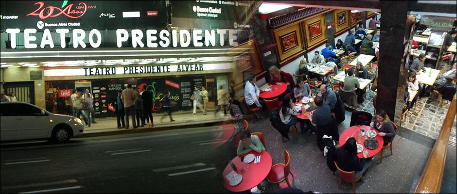 llueve en Buenos Aires: Avenida Corrientes