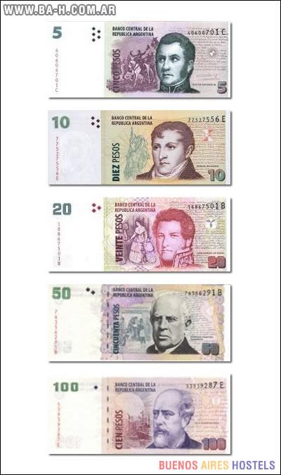 Frente de los billetes argentinos
