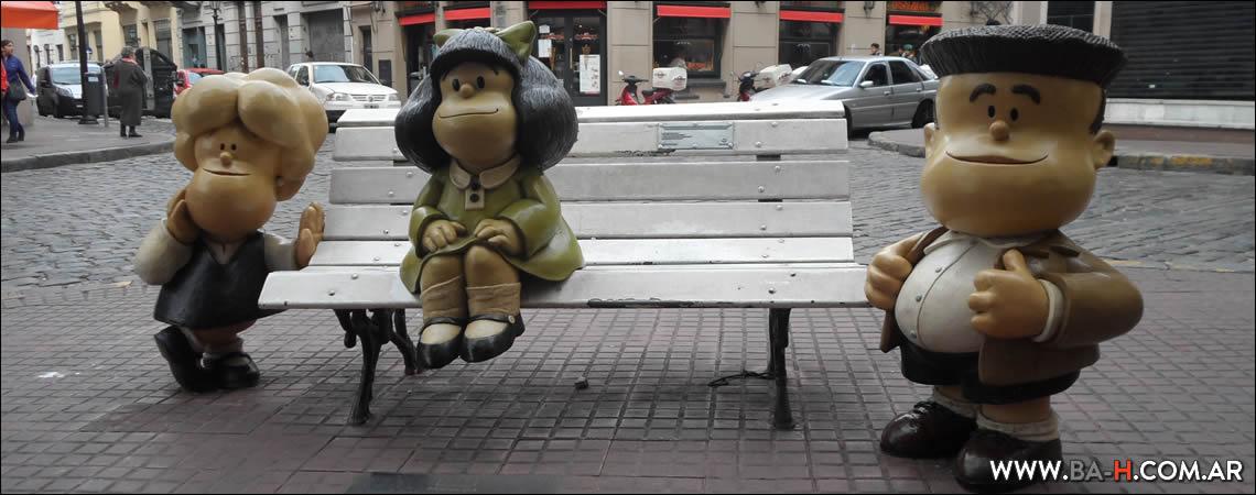 101 cosas sobre Buenos Aires estatua de Mafalda