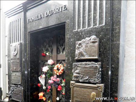 Bóveda de Evita Perón