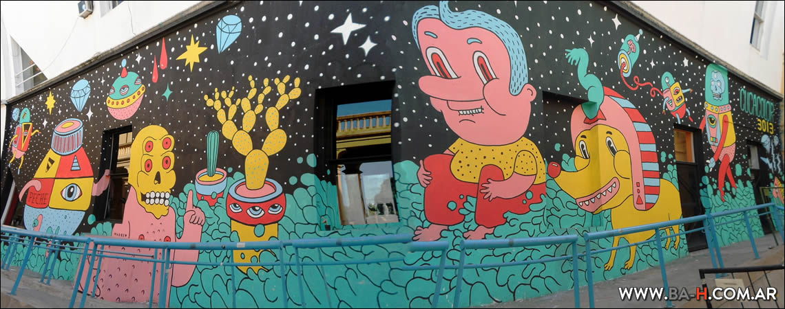 Graffiti en el Centro Cultural Recoleta