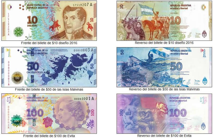 Billetes de la serie Tenemos Patria