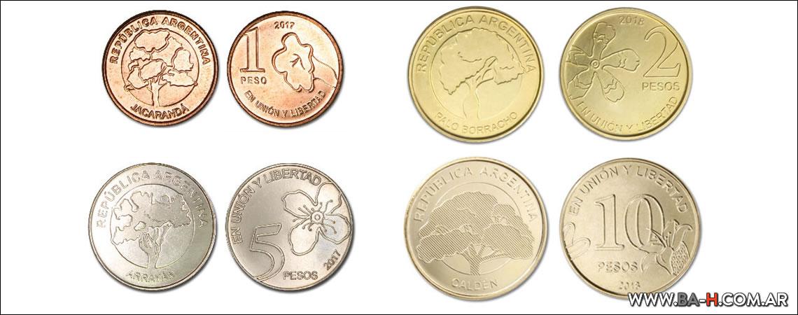 Monedas serie Árboles de la República